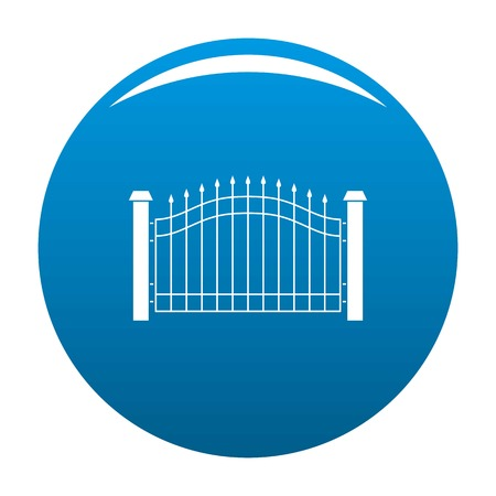 Park fence icon vector blue circle isolated on white background