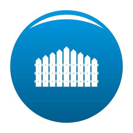 Triangular fence icon vector blue circle isolated on white background  Illustration