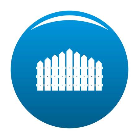 Triangular fence icon vector blue circle isolated on white background  Vectores