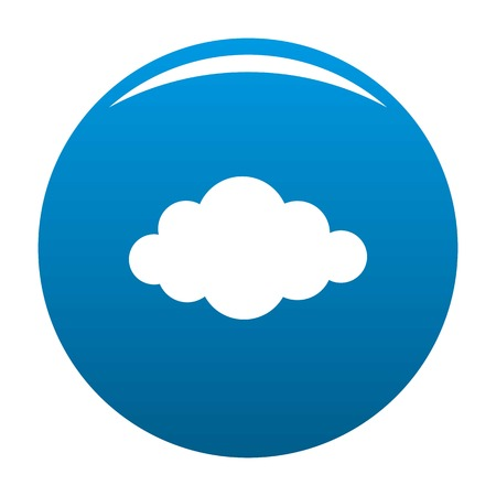 Cloud in sky icon vector blue circle isolated on white background