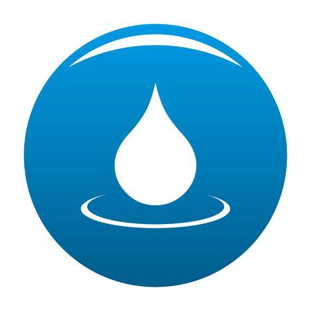 Water drop icon vector blue circle isolated on white background  Ilustração