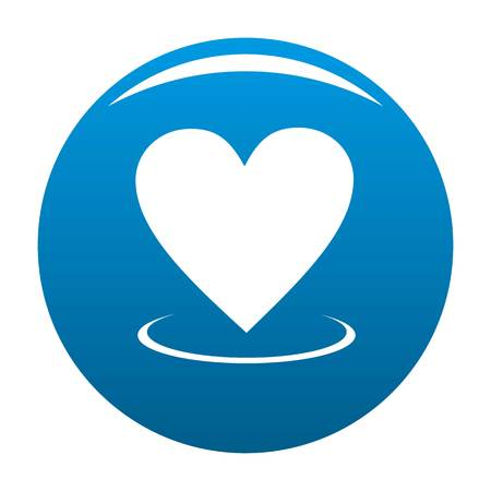 Heart icon vector blue circle isolated on white background  Illustration