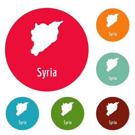 Syria map in black. Simple illustration of Syria map vector isolated on white background Illustration
