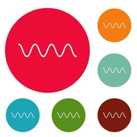 Equalizer electronic icons circle set vector isolated on white background