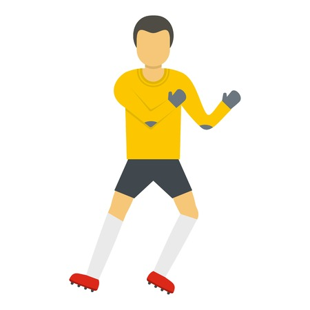 One goalkeeper icon. Flat illustration of one goalkeeper vector icon for web Vectores