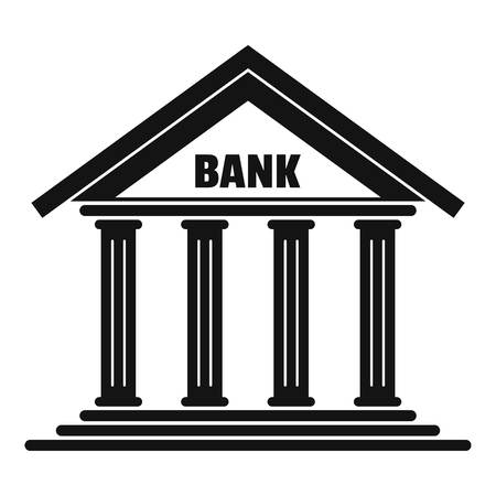 Bank icon. Simple illustration of bank vector icon for web
