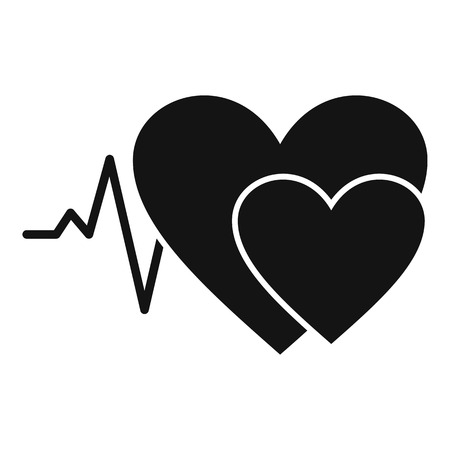 Simple illustration of cardiology vector icon for web