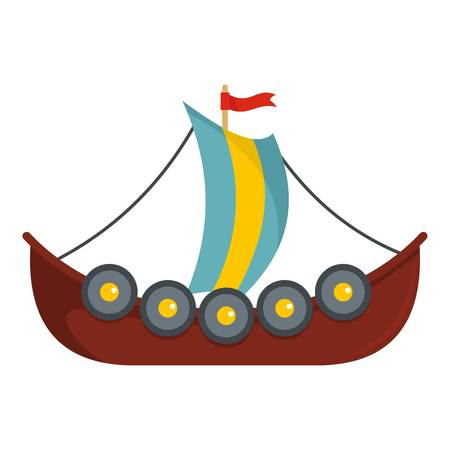 Flat illustration of frigate vector icon for web
