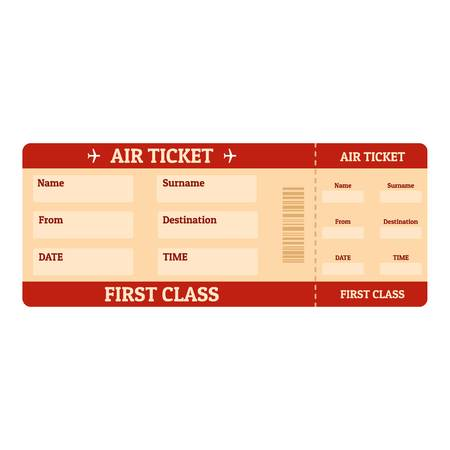 First class ticket icon.