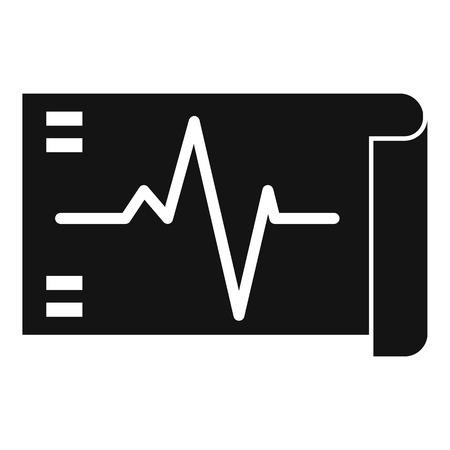 Electrocardiogram icon. Simple illustration of electrocardiogram vector icon for web