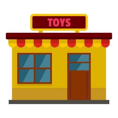 Toy shop icon. Flat illustration of toy shop vector icon for web