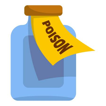 Poison icon. Cartoon illustration of poison vector icon for web