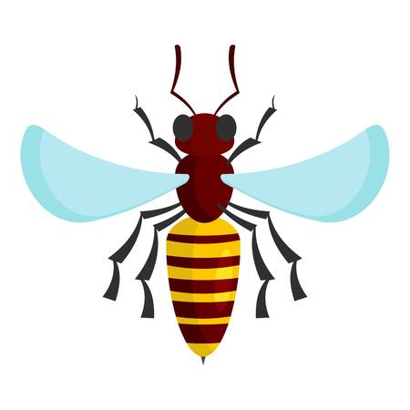 Bee icon. Cartoon illustration of bee vector icon for web