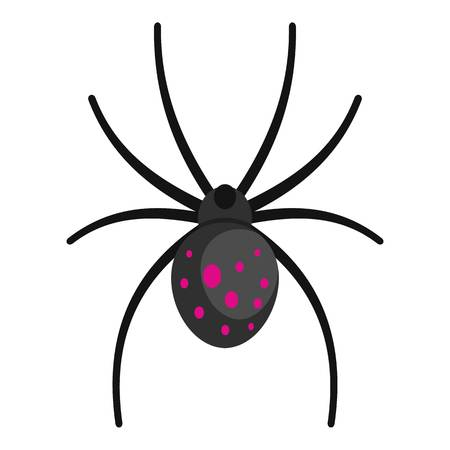 Spider icon. Cartoon illustration of spider vector icon for web Illustration