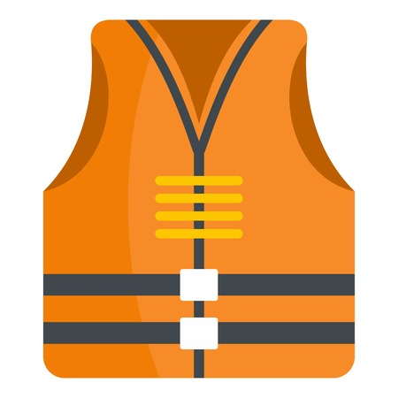 Rettungsweste-Symbol. Flache Illustration der Rettungswesten-Vektorikone für Netz