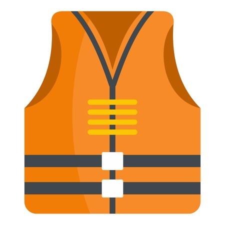 Rescue vest icon. Flat illustration of rescue vest vector icon for web