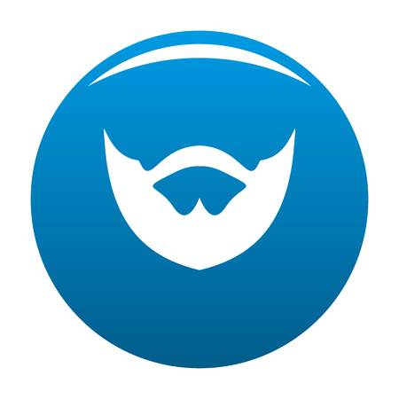 Clipped beard icon vector blue circle isolated on white background  Illustration