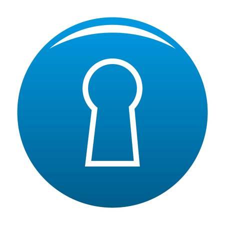 Keyhole icon vector blue circle isolated on white background Illustration