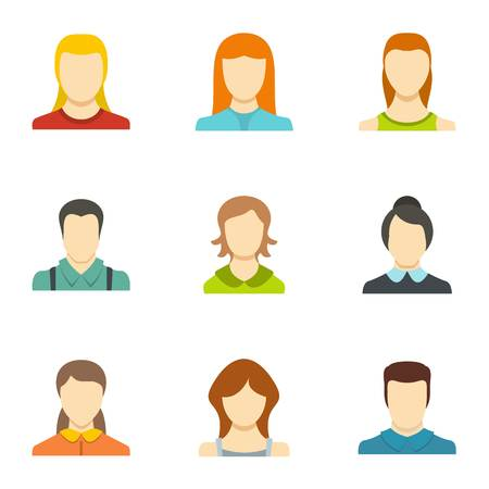 Identity icons set. Flat set of identity vector icons for web isolated on white background