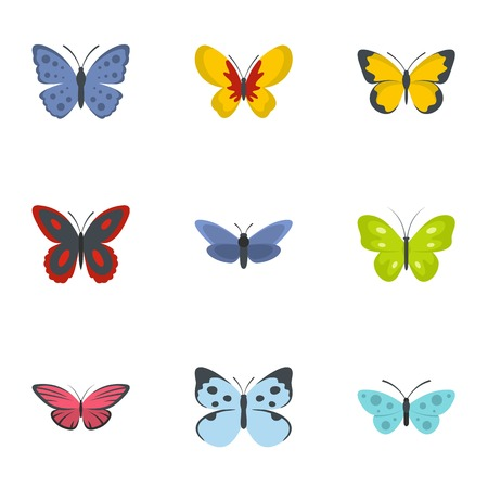 Colorful Butterfly icons set Ilustracja