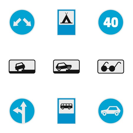 Traffic signal icons set. flat set of traffic signal vector icons for web isolated on white background  イラスト・ベクター素材