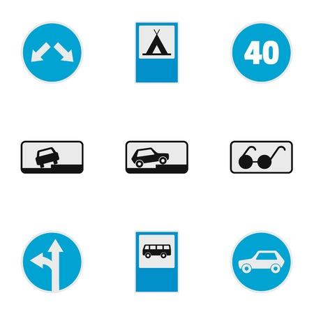 Traffic signal icons set. flat set of traffic signal vector icons for web isolated on white background Ilustração