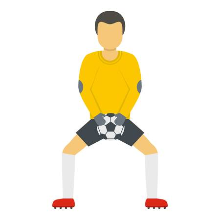 Goalkeeper with ball icon