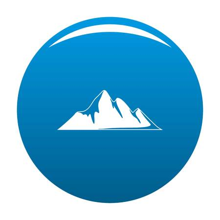 Mountain adventure icon vector blue circle isolated on white background Ilustração