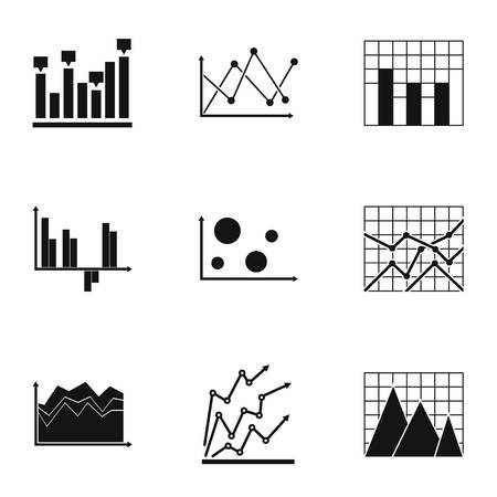 Spreadsheet icons set. Simple set of 9 spreadsheet vector icons for web isolated on white background