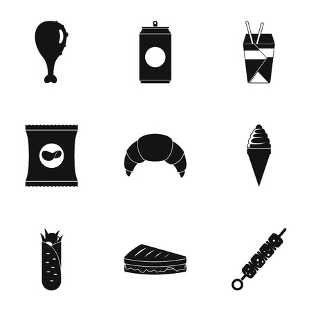 Swallow icons set. Simple set of 9 swallow vector icons for web isolated on white background