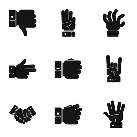 Motion icons set. Simple set of 9 motion vector icons for web isolated on white background.