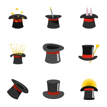 Cylinder icons set. Flat set of 9 cylinder vector icons for web isolated on white background.