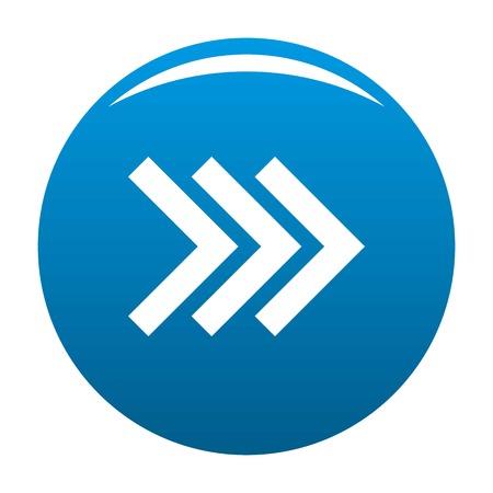 Arrow icon in blue circle