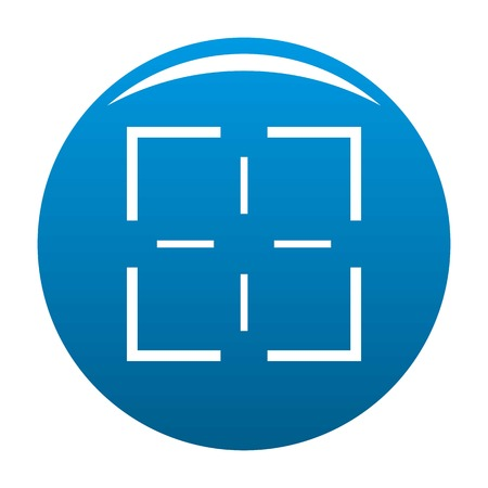 Misja ikona wektor niebieskie kółko na białym tle.
