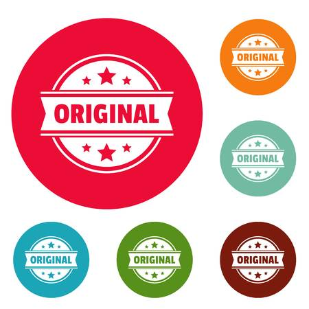 Original logo. Simple illustration of original vector logo for web