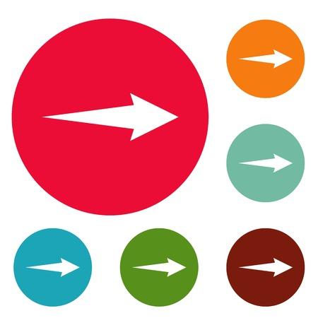 Arrow icons set vector