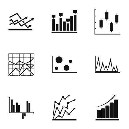 Worksheet icons set. Simple set of 9 worksheet vector icons for web isolated on white background
