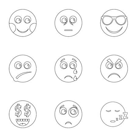 Kind icons set. Outline set of 9 kind vector icons for web isolated on white background