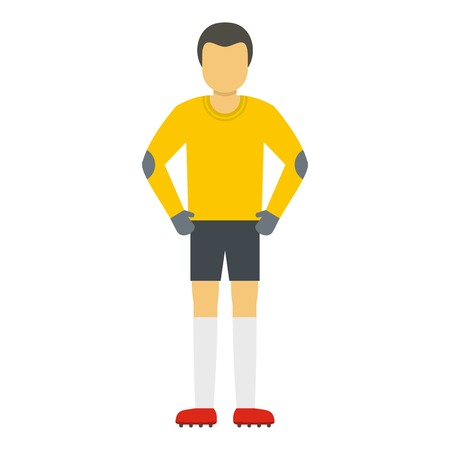 Waiting goalkeeper icon. Flat illustration of waiting goalkeeper vector icon for web