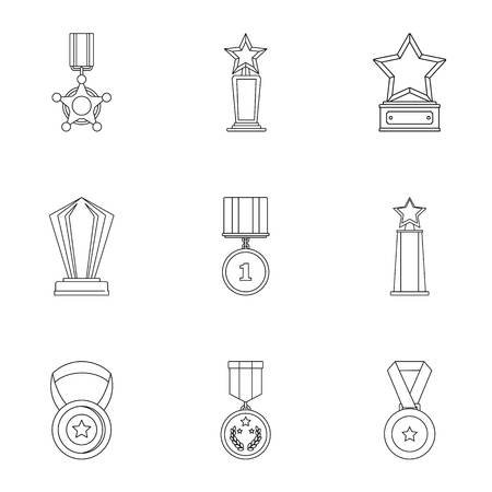 Reckoning icons set. Outline set of 9 reckoning vector icons for web isolated on white background