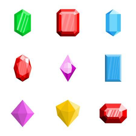 Gems icons set