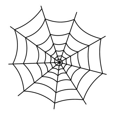 Insekt-Spinnennetz-Symbol. Umreißen Sie Illustration der Insektenspinnennetz-Vektorikone für Netz