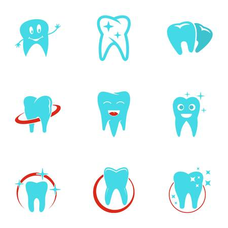 Dental polyclinic icons set. flat set of 9 dental polyclinic vector icons for web isolated on white background