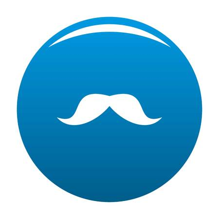 Norway mustache icon vector blue circle isolated on white background