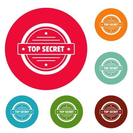 Top secret icon. Simple illustration of top secret vector icon for web.