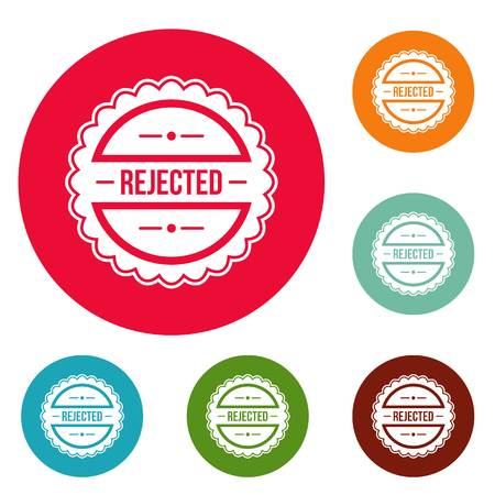 Rejected logo. Simple illustration of rejected vector logo for web