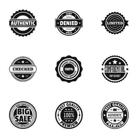 Sales volume icons set. Simple set of 9 sales volume vector icons for web isolated on white background
