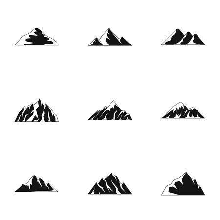 Tableland icons set. Simple set of 9 tableland vector icons for web isolated on white background