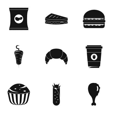 Gormandize icons set. Simple set of 9 gormandize vector icons for web isolated on white background