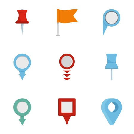 Information sign icons set. flat set of 9 information sign vector icons for web isolated on white background